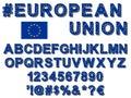 European Union flag font Royalty Free Stock Photo
