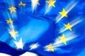 European union flag in sunbeams Royalty Free Stock Photo