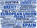EUROPEAN UNION - image with words associated with the topic EUROPEAN_UNION, word cloud, cube, letter, image, illustration