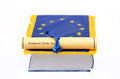 European union law european union flag law book white background law concept Royalty Free Stock Images