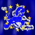 European Union map and flag Royalty Free Stock Photo