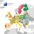 The European Union map Royalty Free Stock Photo
