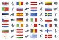 Evropská unie styl vlajky mapy