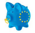 European union piggy bank Stock Image