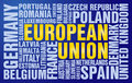 European Union puzzle Stock Image