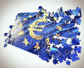 The European Union puzzle Royalty Free Stock Photos