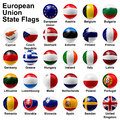 European union state flags shiny ball Royalty Free Stock Photography