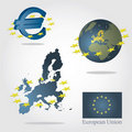 European union symbols Royalty Free Stock Photo