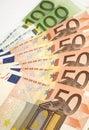 Europejczyk waluta Fotografia Royalty Free