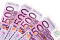 Euros banknotes pink solated on white Stock Image