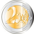 Euros coin Stock Photography