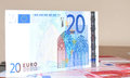 Euros detail of banknote Stock Image