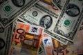 Euros and Dollars Royalty Free Stock Image