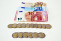Euros icon, save money concept, debt concept Royalty Free Stock Photo