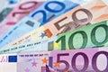 Euros money banknotes Royalty Free Stock Photo