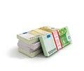 Euros money stack Royalty Free Stock Photo