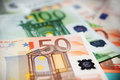 50 euros note close up Royalty Free Stock Photo