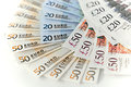 Euros and sterling banknotes of € € Royalty Free Stock Photography