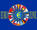 Eurozone european countries outside the euro area Royalty Free Stock Images