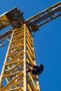 Evacuation from construct-crane Royalty Free Stock Photo