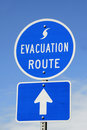 Evacuation Route Sign Royalty Free Stock Images