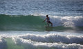 Evan Geiselman Surfing Manly Beach Royalty-vrije Stock Foto's