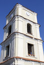 Evangelic church clock the historic tower of in the old town of kedainiai lithuania Stock Images