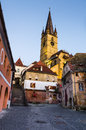 Evangelical cathedral in sibiu romania gothic of built the xivth century tower is m height tallest transylvania Royalty Free Stock Photos