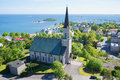 Evangelical Lutheran Church of Hanko on a sunny June day. Finland Royalty Free Stock Photo