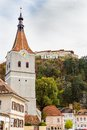 Evangelical protestant church of th century in rasnov romania medieval saxon fortress at hill Stock Photo