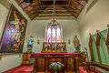 Evangelist church in richmond tasmania closeup of the altar of the interior of st john the s australia is a town about km Stock Photo