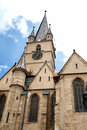 Evanghelical church sibiu romania the evangelic is one of the most impressive buildings in it was raised in the th century on the Royalty Free Stock Photos