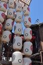Eve of Gion Matsuri festival, Kyoto Japan in July. Royalty Free Stock Photo