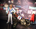 Evel knievel wax statue of american daredevil painter entertainer and international icon image taken at the madame tussauds museum Stock Photo