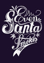 Even santa smokes some vector illustration ideal for printing on apparel clothes Royalty Free Stock Image