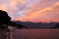 Evening in the Bay of Kotor Royalty Free Stock Photos