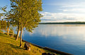 Evening Calm on the Lake Royalty Free Stock Photo