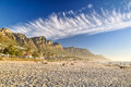 Evening at Camps Bay Beach - Cape Town, South Africa Royalty Free Stock Photo