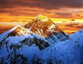 Evening colored view of Everest from Kala Patthar Royalty Free Stock Image