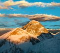 Evening colored view of Everest - Nepal Stock Image
