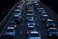 Evening commute traffic Royalty Free Stock Photo