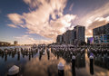 Evening at docklands also known as melbourne to differentiate it from london is a suburb of melbourne victoria australia Stock Photo