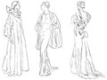 Evening dresses Royalty Free Stock Image