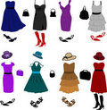 Evening dresses and accessories Royalty Free Stock Image