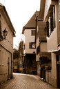 Evening Esslingen in sepia color Royalty Free Stock Images