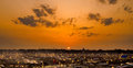 Evening in kumbh 2013 in allahabad on 24.02.2013 Royalty Free Stock Image