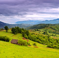 Evening landscape in the mountains ukraine Stock Photos