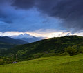 Evening landscape in the mountains ukraine Royalty Free Stock Photos