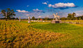 Evening light on the battlefields of gettysburg pennsylvania Stock Image