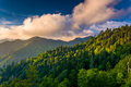 Evening light on the Smokies, seen from an overlook on Newfound Royalty Free Stock Photo